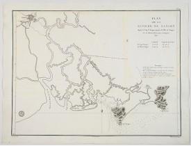 DÉPÔT GÉNÉRAL DE LA MARINE. -  Plan de la Riviere de Saigon depuis le cap St. Jacques jusqu'a la Ville de Saigon.