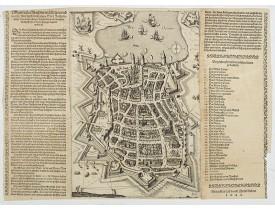 ANONYME -  [ La Rochelle ] Eingentlicher Abriss der mächtigen und in aller Welt hochberühmten Statt Roschelle. . .