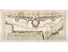 NOLIN, J. B. -  Le Canal Royal de Languedoc pour la jonction de l'Océan et de la Mer Méditerranée, dédié et présenté à Mgrs. des Estats de Languedoc.