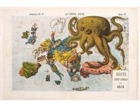 GROSSI, A. -  La Piovra Russa. Carta Serio-Comica Pel 1878.