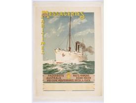 BRUN, Abel. -  Compagnie des Messageries Maritimes. Paquebots Poste Français, Australie, Océan Indien, Indo-Chine, Méditérannée, Brésil & Plata. (Annam boat).