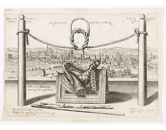MERIAN, M. -  Paris. Canesson de cordes / Nassbandt von Stricken.