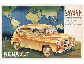 """MORIN. L. -  Renault Savane 1951 L. La nouvelle voiture mixte 6 / 7 places 800 kg moteur """"85"""". Série Coloral."""