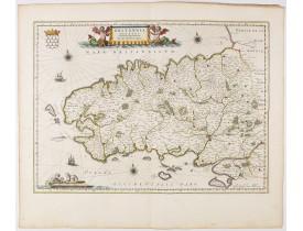 BLAEU, W. -  Britannia Ducatus. Duché de Bretaigne.