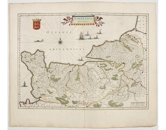 BLAEU, J. -  Normandia Ducatus.