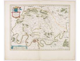 BLAEU, W. -  Ager Parisiensis Vulgo L'Isle de France. . .