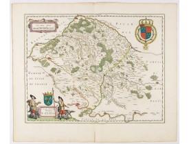 BLAEU, W. -  Vale Sium Ducatus. Valois