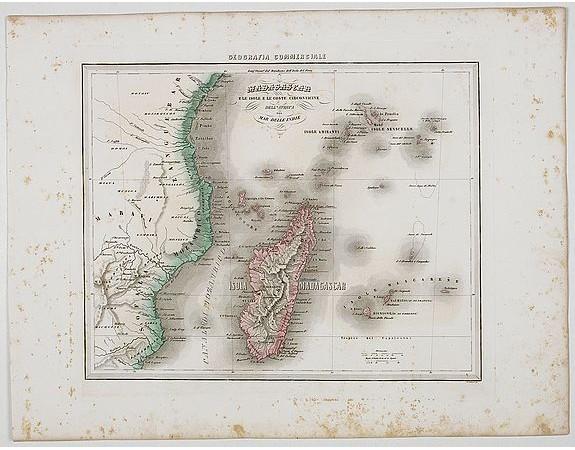 MARMOCCHI, F. C. -  Madagascar e le Isole E le Coste Circonvicine Dell' Africa nel Mar Delle Indie.
