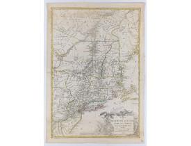BRION DE LA TOUR, L. -  Carte du Théatre de la Guerre Entre les Anglais et les Américains: Dressée d'apres les Cartes Anglaises les plus modernes