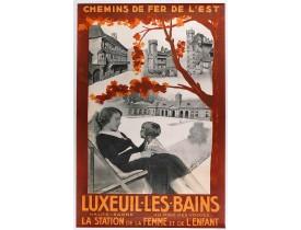 HACHARD. -  Chemin de fer de l'est -Luxeuil les Bains vers 1920.