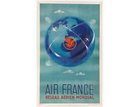 PLAQUET / AIR FRANCE. -  Réseau aérien mondial.