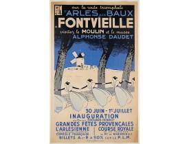 LELEE, L. -  Sur la route triomphante d'Arles aux Baux  - A Fontvieille visitez le moulin et le musée Alphonse Daudet.