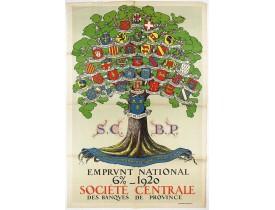 EMPRUNT NATIONAL -  Pour que L'Arbre conserve sa vigueur, Emprunt National 6 % 1920.