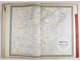 NAPOLÉON CHAIX. -  Atlas des Chemins de Fer.