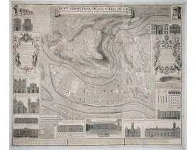 GREGOIRE, R. P. -  Plan Géometral de la Ville de Lyon.