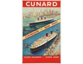 TURNER, C.E -  Cunard Cherbourg - New York.