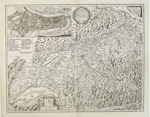 ZOLLINGER, A. -  Inclytae Urbis et Ditionis BERNENSIS cum locis finidimis Tabula Geographica et Hydrographica noviter correcta.