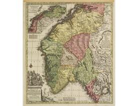 LOTTER, T. C. -  Regnum Norwegiae accurata et novissima delineatione…