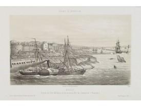 LEBRETON, L. -  Brest - Entrée du Port Militaire et du nouveau Port du Commerce.  (Postrain).