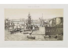 LEBRETON, L. -  Brest - Entrée du Port, vue prise de la Batterie du fer à cheval.