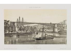 LEBRETON, L. -  Brest - Vue du Pont Napoléon III.
