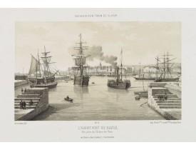 ASSELINEAU, L. A. -  L'Avant Port du Havre, vue prise de l'Ecluse de l'Eure.