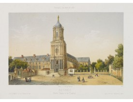 DEROY. -  Rennes. Notre Dame et le Thabor.