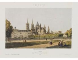 DEROY. -  Caen. Eglise St. Etienne et Lycée Impérial.