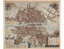DE LA FEUILLE, J. -  Lutetiae Parisiorum Universae Galliae Metropolis Novissima & Accuratissima Delineatio per Jacobum  de la Feuille.