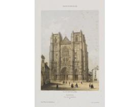 DEROY. -  Nantes. Vue de la Cathédrale.
