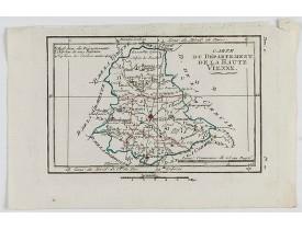 DELAPORTE, L'Abbé. -  Carte du Département de la Haute Vienne.