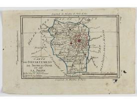 DELAPORTE, L'Abbé. -  Carte des Départemens de Seine et Oise et de la Seine.