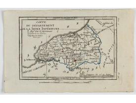 DELAPORTE, L'Abbé. -  Carte du Département de la Seine Inférieure.