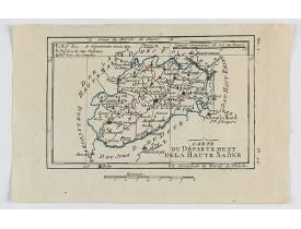 DELAPORTE, L'Abbé. -  Carte du Département de la Haute Saône.