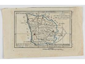 DELAPORTE, L'Abbé. -  Carte du Département de la Nyevre.