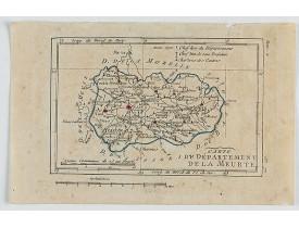 DELAPORTE, L'Abbé. -  Carte du Département de la Meurte.