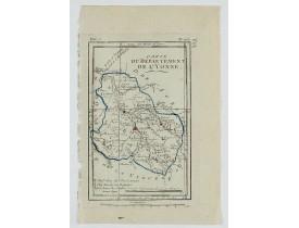 DELAPORTE, L'Abbé. -  Carte du Département de l'Yonne.