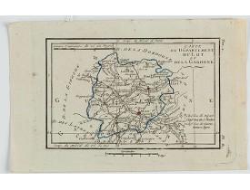 DELAPORTE, L'Abbé. -  Carte du Département du Lot et de la Garonne.