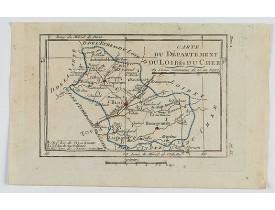 DELAPORTE, L'Abbé. -  Carte du Département du Loir et du Cher.