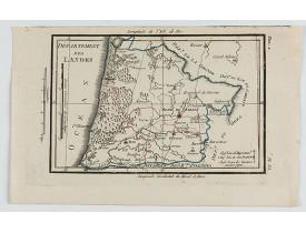 DELAPORTE, L'Abbé. -  Carte du Département des Landes.