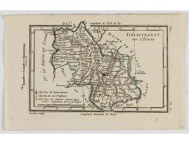 DELAPORTE, L'Abbé. -  Carte du Dépt. de l'Isère.