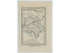 DELAPORTE, L'Abbé. -  Carte du Département de l'Indre et de la Loire.