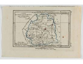 DELAPORTE, L'Abbé. -  Carte du Département de l' Indre.