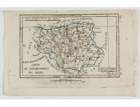 DELAPORTE, L'Abbé. -  Carte du Département du Gers.
