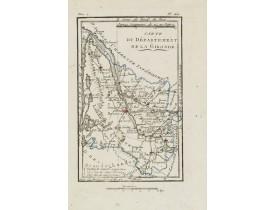 DELAPORTE, L'Abbé. - Carte du Département de la Gironde.
