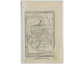 DELAPORTE, L'Abbé. -  Carte du Département de l'Eure et du Loir.