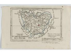 DELAPORTE, L'Abbé. -  Carte du Département de l'Eure.