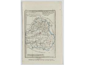 DELAPORTE, L'Abbé. -  Carte du Département de la Dordogne.