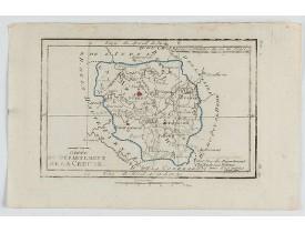 DELAPORTE, L'Abbé. -  Carte du Département de la Creuse.