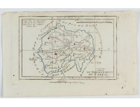 DELAPORTE, L'Abbé. -  Carte du Département du Cantal.